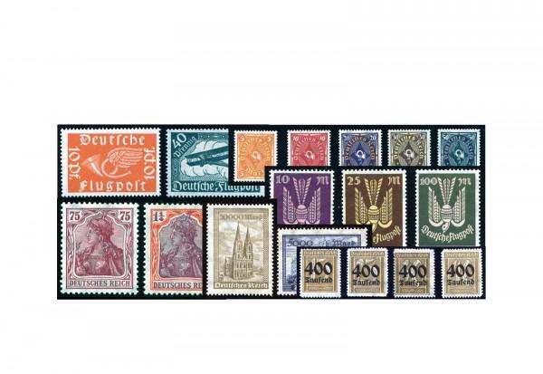 Deutsches Reich 1919 bis 1923 postfrisch im Set