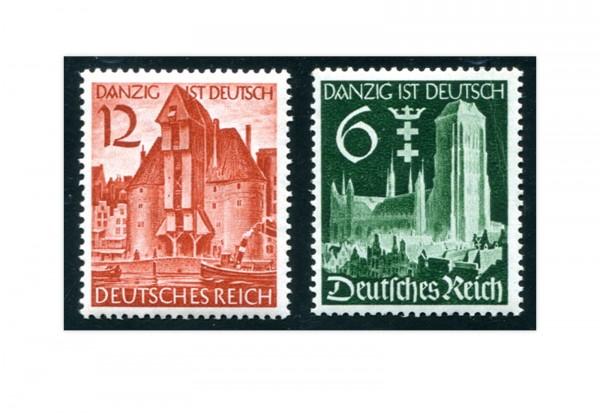 Briefmarken Deutsches Reich Wiedereingliederung Danzig Michel-Nr. 714/715 postfrisch