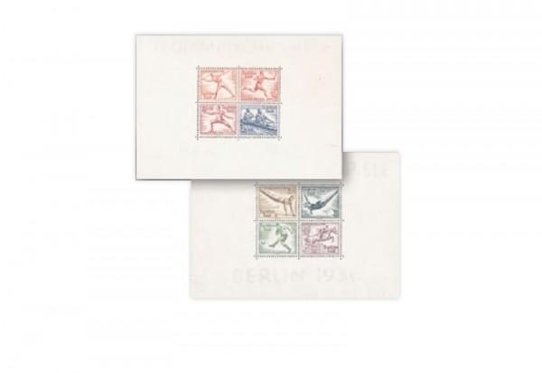 Briefmarken Deutsches Reich Olympia 1936 Block 5+6 postfrisch