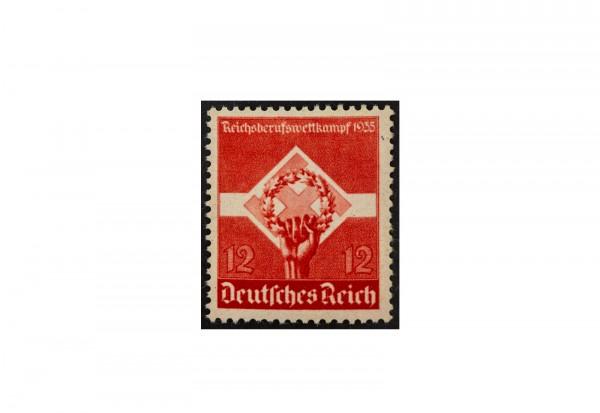 Briefmarke Deutsches Reich 1935 Michel-Nr. 572 y postfrisch waagerechte Riffelung
