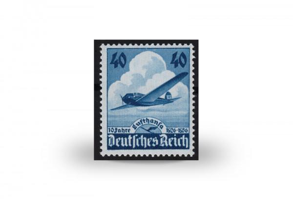 Briefmarke Deutsches Reich erste Lufthansa-Briefmarke 1936 Michel-Nr. 603 postfrisch