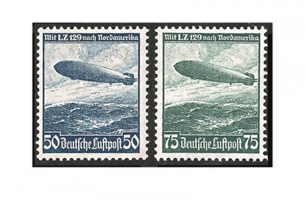 Briefmarken Deutsches Reich Zeppelin 1936 Michel-Nr. 606/07 Falz