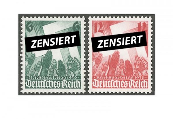 Deutsches Reich Mi.Nr. 632/33 ** Nürnberger Reichsparteitag 1936