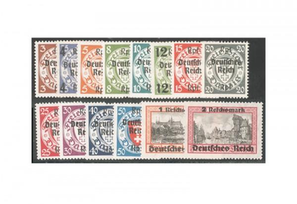 Briefmarken Deutsches Reich Danzig Abschied 1939 Michel-Nr. 716-729 postfrisch
