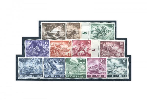 Briefmarken Deutsches Reich Wehrmacht 1943 Michel-Nr. 831/42 postfrisch