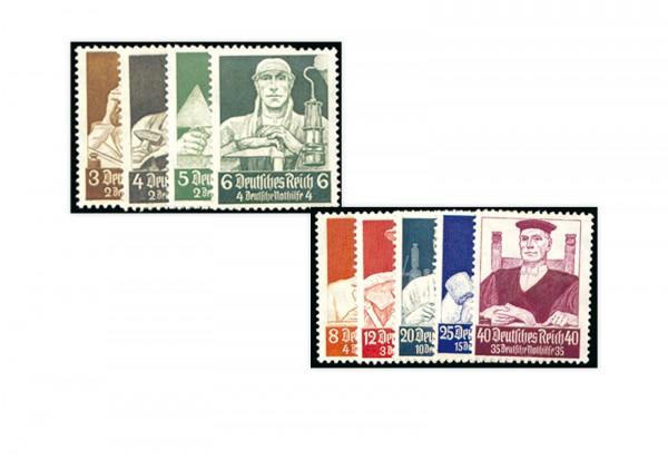 Briefmarken Deutsches Reich Nothilfe Berufsstände 1934 Michel-Nr. 556/64 postfrisch