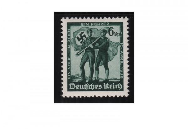 Briefmarke Deutsches Reich Volksabstimmung 1938 Michel-Nr. 663 postfrisch