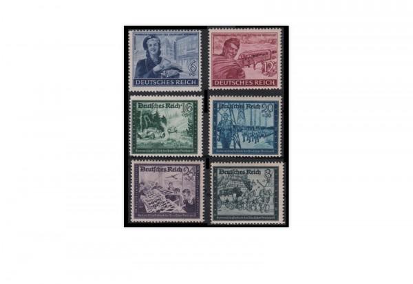 Briefmarken Deutsches Reich Kameradschaftsblock 1944 Michel-Nr. 888/93 postfrisch