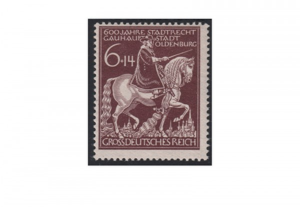 Briefmarken Deutsches Reich 600. Jahrestag der Verleihung der Stadtrechte an Oldenburg 1945 Michel