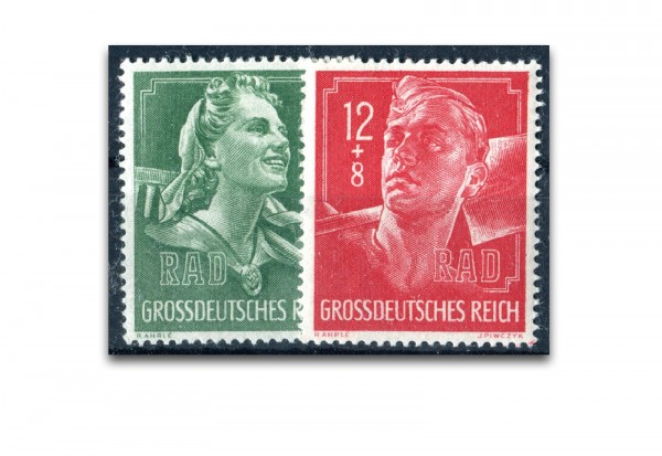 Briefmarken Deutsches Reich Ausstellung Reichsarbeitsdienst 1944 Michel-Nr. 894-95