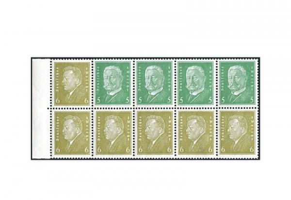 Deutsches Reich H-Blatt 61 B postfrisch Reichspräsidenten-Zusammendruck