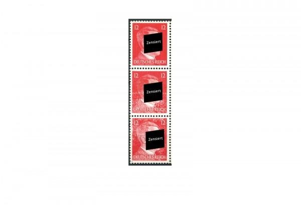 Deutsches Reich Michel Nr. 827 Gequetschter Hitler Dreierstreifen postfrisch