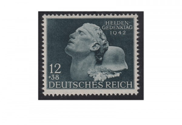 Briefmarke Deutsches Reich Heldengedenktag 1942 Michel-Nr. 812 postfrisch