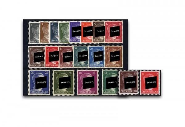 Deutsches Reich Mi.Nr. 781-798 + 826/7 postfrisch