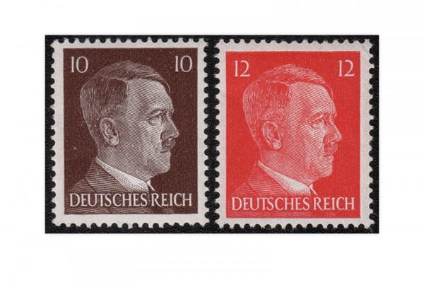 Briefmarken Deutsches Reich Hitler Freimarken 1942 Michel-Nr. 826-827 postfrisch