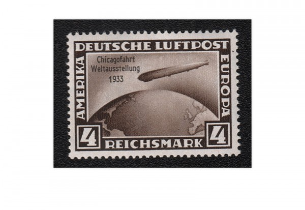 Deutsches Reich Mi.Nr. 498 - 4 Mark Zeppelin 1933 **