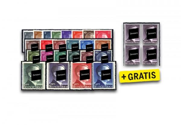 Deutsches Reich Mi.Nr. 781-802, 826-827 postfrisch inkl. DR 800 im VB im SET: