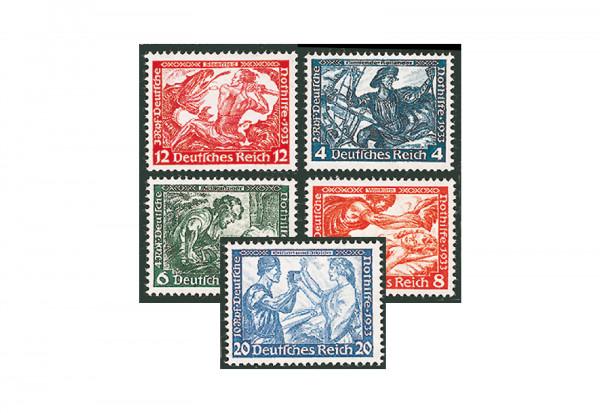 Briefmarke Deutsches Reich - Drittes Reich 1933 Michel Nr. 499-505 B Opern von Richard Wagner postfr