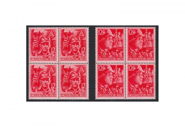 Deutsches Reich Michel-Nr. 909/910 postfrisch Viererblocks