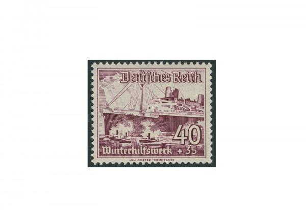 Briefmarke Deutsches Reich 1937 WHW Schiffe Michel-Nr. 659 y postfrisch