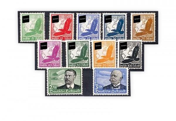 Deutsches Reich Michel Nr. 529/539 mit Falz