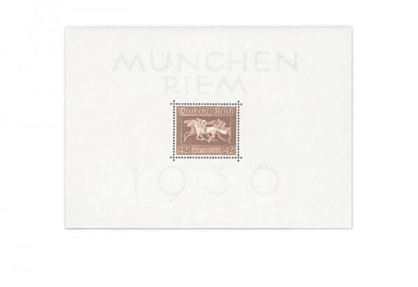 Briefmarken Deutsches Reich Braunes Band 1936 Block 4 Falz