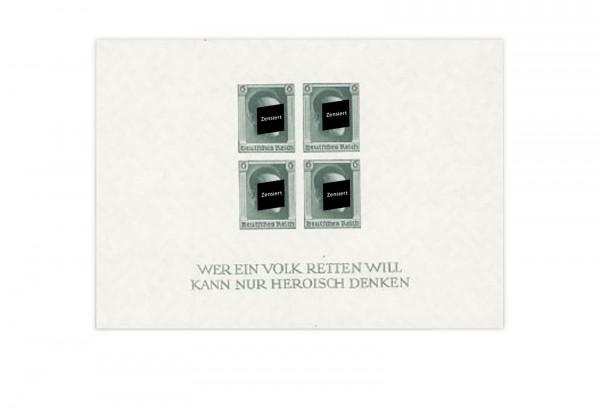 Deutsches Reich Block 9 mit Falz