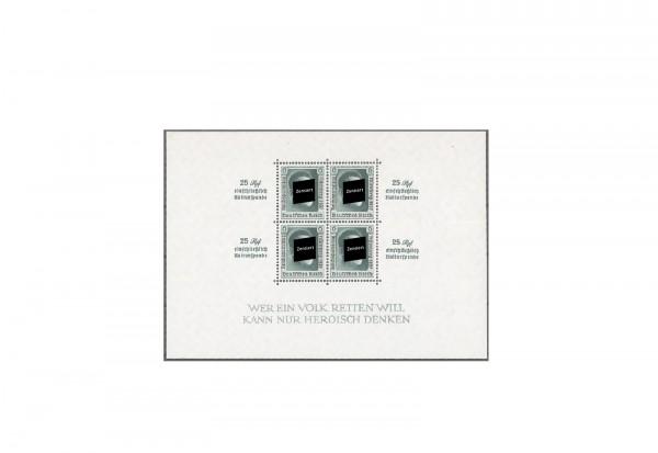 Deutsches Reich Block 11 Reichsparteitag 1937 mit Falz