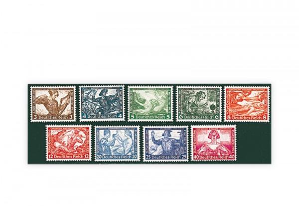 Deutsches Reich Mi.Nr. 499/507 mit Falz Wagner