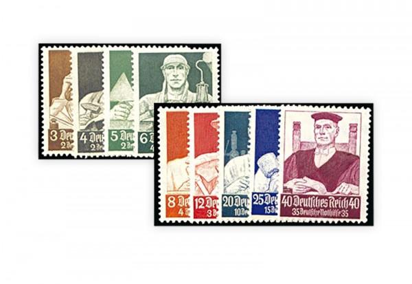 Briefmarken Deutsches Reich Nothilfe Berufsstände 1934 Michel-Nr. 556/64 mit Falz