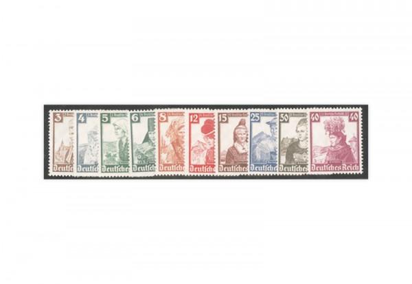Deutsches Reich Trachten 1935 Mi.Nr. 588/597 Falz