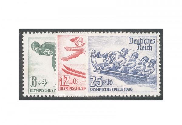 Deutsches Reich Mi.Nr. 600/602 mit Falz Winterolympiade