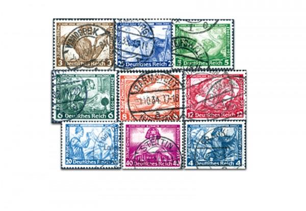 Deutsches Reich Wagner-Satz 1933 Michel 499/507 gestempelt
