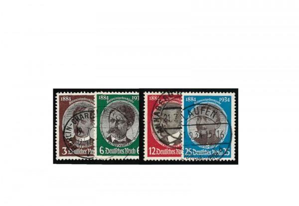 Briefmarken Deutsches Reich Kolonialforscher Michel-Nr. 540/43 gestempelt