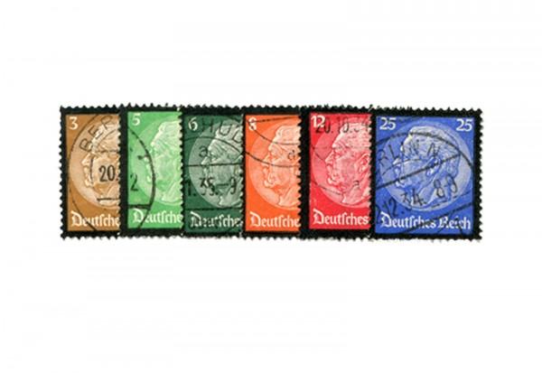 Deutsches Reich Mi.Nr. 548/553 gestempelt