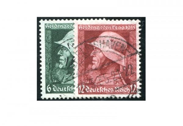 Briefmarken Deutsches Reich Heldengedenktag 1935 Michel-Nr. 569/570 gestempelt