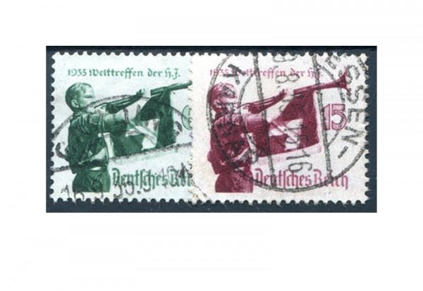 Briefmarken Deutsches Reich Hitler-Jugend 1935 Michel-Nr. 584/585 gestempelt