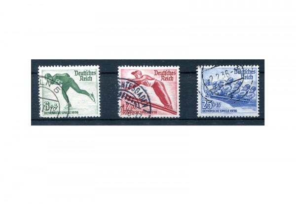 Briefmarken Deutsches Reich Winterolympiade 1935 Michel-Nr. 600/602 gestempelt