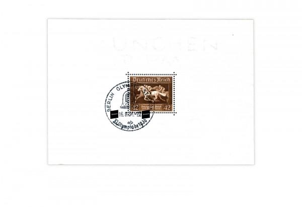 Briefmarken Deutsches Reich Braunes Band 1936 Block 4 gestempelt
