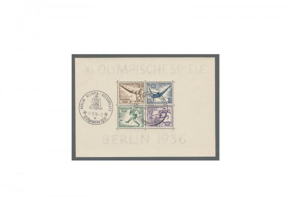 Briefmarken Deutsches Reich Olympia 1936 Block 5 gestempelt