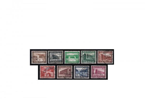 Briefmarken Deutsches Reich Winterhilfswerk 1936 Michel-Nr. 634/42 gestempelt