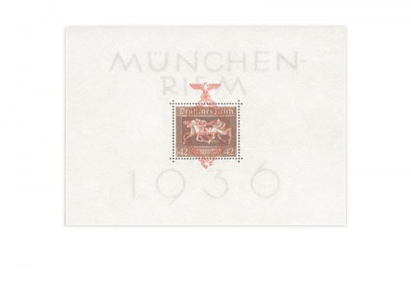 Briefmarken Deutsches Reich Braunes Band 1937 Block 10 Falz