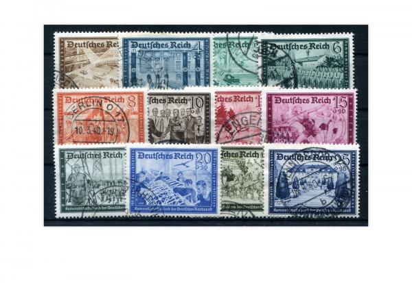 Deutsches Reich Mi.Nr. 702/713 gestempelt