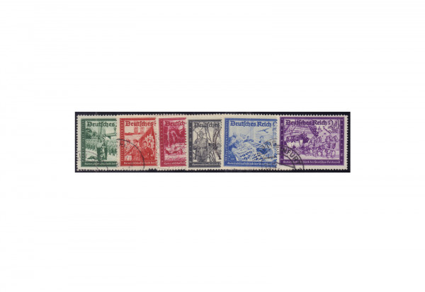 Briefmarken Deutsches Reich Postkameradschaft II Michel-Nr. 773/78 gestempelt