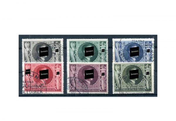 Briefmarken Deutsches Reich Hitler Geburtstag 1943 Michel-Nr. 844/49 gestempelt