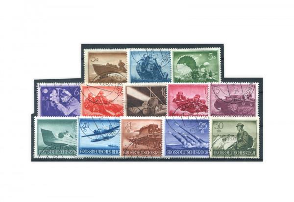 Briefmarken Deutsches Reich Wehrmacht II 1944 Michel-Nr. 873/85 gestempelt