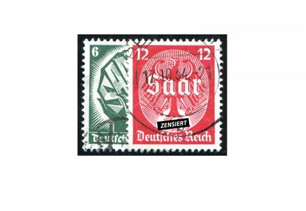 Briefmarken Deutsches Reich Saarabstimmung 1935 Michel-Nr. 544/545 gestempelt