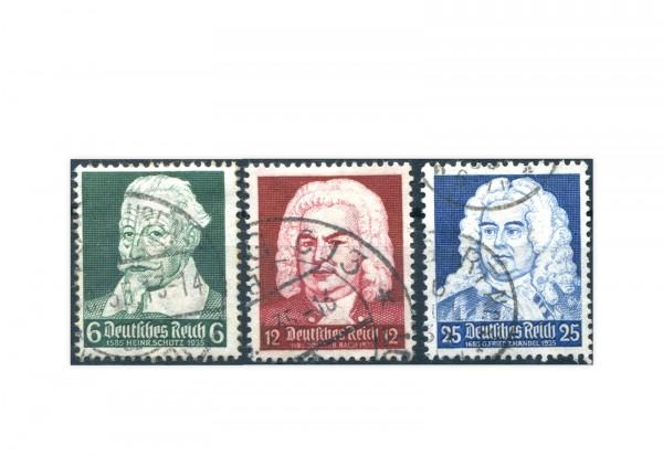 Briefmarken Deutsches Reich Komponisten 1935 Michel-Nr. 573/575 gestempelt