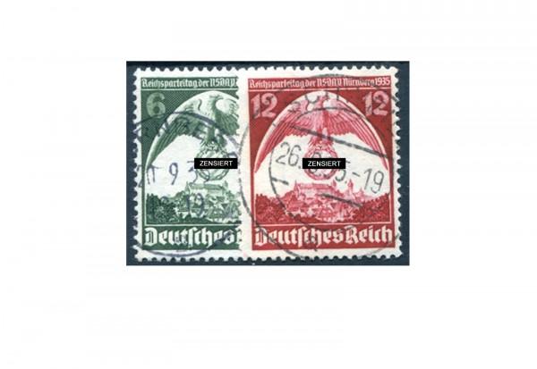 Deutsches Reich 586/587 gestempelt
