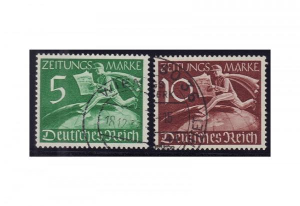 Briefmarken Deutsches Reich Zeitungsmarken Michel-Nr. Z 738/39 gestempelt